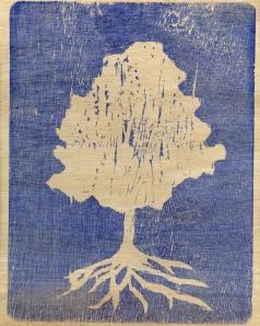 wood print tree
