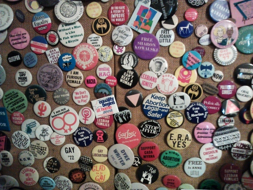 decades of buttons from the Sexual Minority Archives, Northampton, Mass